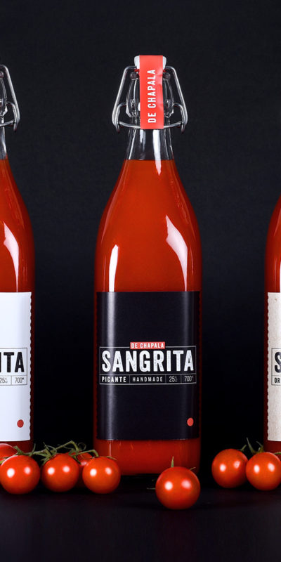 sangrita label packaging design