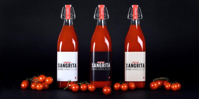 sangrita label packaging design